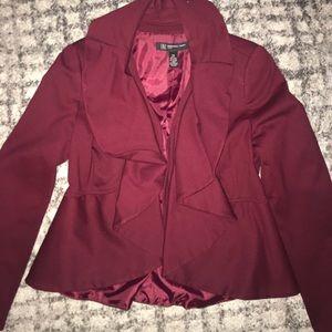 INC Petite Burgundy Jacket